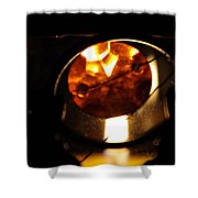 Glass And Flame Shower Curtain