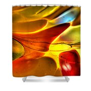 Glass And Light Shower Curtain