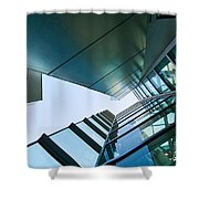 Glass And Metal - Walt Disney Concert Hall In Downtown Los Angeles Shower Curtain