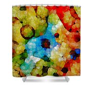 Glass Art Abstract Shower Curtain