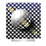 Glass Ball  Shower Curtain