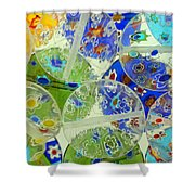 Glass Beads Abstract Shower Curtain