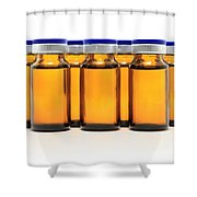 Glass Bottles And Medicine Shower Curtain