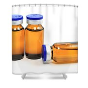 Glass Bottles With Medicine  Shower Curtain