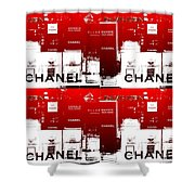 Glass Case Red Pop Four Shower Curtain