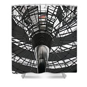 Glass Cupola - Reichstagsbuilding Berlin Shower Curtain