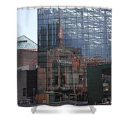 Glass Facade Reflection - Aquarium Baltimore Shower Curtain