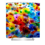 Glass Flowers Shower Curtain