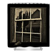 Glass Ghost Shower Curtain
