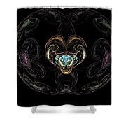 Glass Globe Shower Curtain