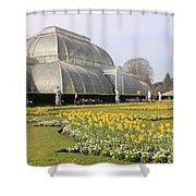 Glass House At Kew Gardens London Shower Curtain
