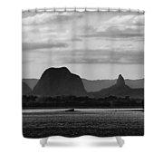 Glass House Mts Shower Curtain