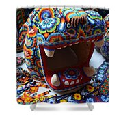 Glass Jaguar Shower Curtain