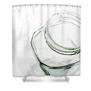 Glass Jars - High Key Shower Curtain