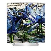 Glass Lilies Shower Curtain