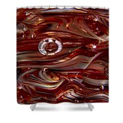 Glass Macro Abstract Crimson And Gray Shower Curtain