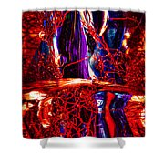 Glass Macro Abstract M2 Ce Shower Curtain