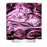Glass Macro Abstract Rbwce1 Shower Curtain by David Patterson