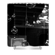 Glass Ornaments Shower Curtain