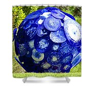 Glass Planet Shower Curtain