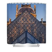 Glass Pyramid At Musee Du Louvre Shower Curtain