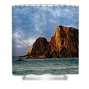 Glass Rocks Shower Curtain
