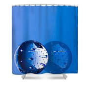 Glass Sphere Shower Curtain