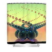 Glass Twirl  Shower Curtain