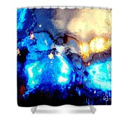 Glass Vase Abstract Shower Curtain