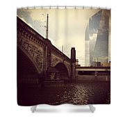 Glass View Shower Curtain by Katie Cupcakes