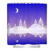 Glass Winter Shower Curtain