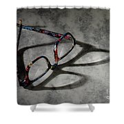 Glasses 1b Shower Curtain