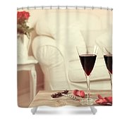 Glasses Of Red Wine Shower Curtain