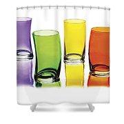 Glasses-rainbow Theme Shower Curtain