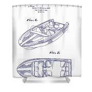 Glasspar 1960 California Boat Shower Curtain