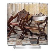 Glastonbury Chairs Shower Curtain
