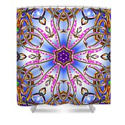 Gleaming Flower Bands Shower Curtain