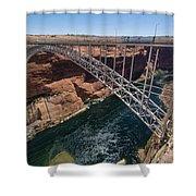 Glen Canyon Dam Bridge Shower Curtain