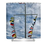 Glen Cove American Flag Shower Curtain