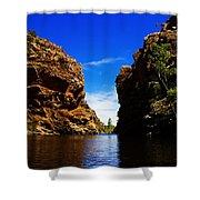Glen Helen Gorge-outback Central Australia V2 Shower Curtain