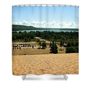 Glen Lake From The Dune Climb Shower Curtain