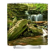 Glen Leigh Cascades Shower Curtain