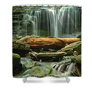 Glen Leigh River Rocks And Falls Shower Curtain