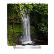 Glencar Waterfall Is Situated Shower Curtain