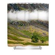 Misty Mountain Landscape Shower Curtain