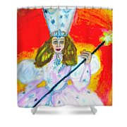 Glenda The Good Witch Of Oz Shower Curtain