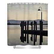 Glendale Docks No. 2 Shower Curtain by David Gordon