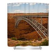 Glenn Dam Bridge Shower Curtain