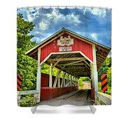 Glessner Covered Bridge Shower Curtain