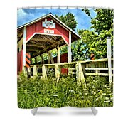 Glessner Wooden Bridge Shower Curtain
